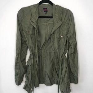 Olive Green Cargo Utility Jacket
